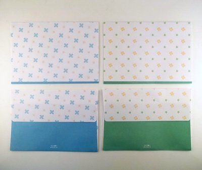 Envelopes Set (2 designs) | Flowers and Clovers