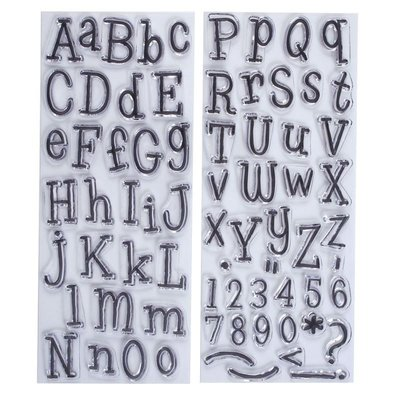 Papermania Clear Stamps (2pk) - Alphabet - Leftovers