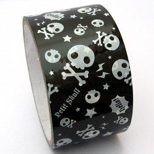 Large Adhesive PVC Decotape | Skulls