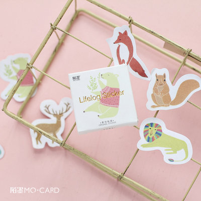 Sticker Flakes Box | Animals