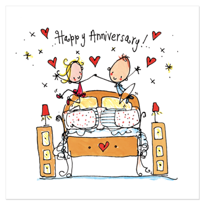 Juicy Lucy Designs Greeting Card - Happy Anniversary!