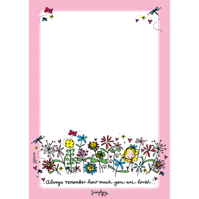 Juicy Lucy Designs A5 Notepad | Always remember how much you are loved!