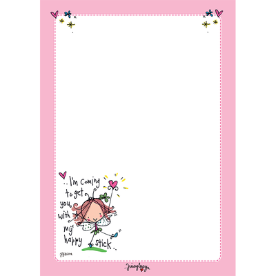 Juicy Lucy Designs A5 Notepad | I'm coming to get you with my happy stick!