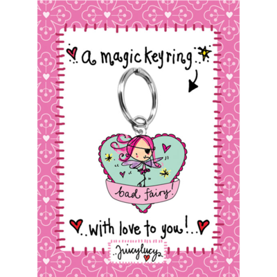 Juicy Lucy Designs Keyring | Bad Fairy!