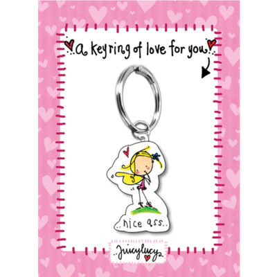 Juicy Lucy Designs Keyring | Nice ass!