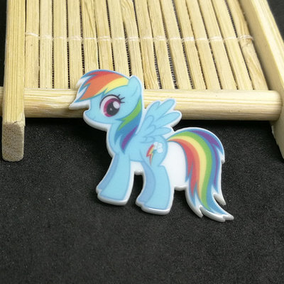 Flatbacks Planar Resin Charms | My Litle Pony Blue Rainbow Hair
