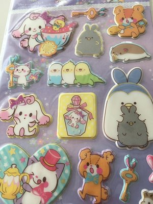 Fantasyland Puffy Epoxy Stickers | Key