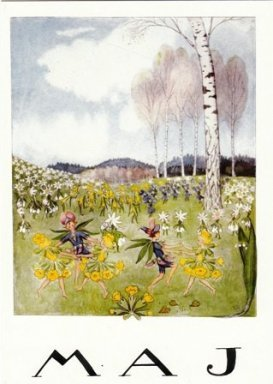 Elsa Beskow Postcard | May