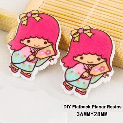 Flatbacks Planar Resin Charms | Little Twin Stars Lala Kimono Fan