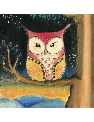 Alexandra GUIBERT Square Art Postcard | Chouette Nuit