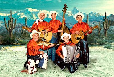 Singing Cowboy Band Individual Postcard by Max Hernn