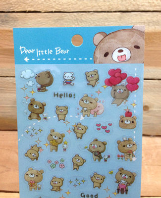 Honey Bear Clear Stickers