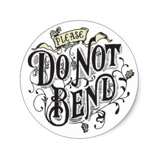 Do Not Bend Circle Sealing Stamp Stickers