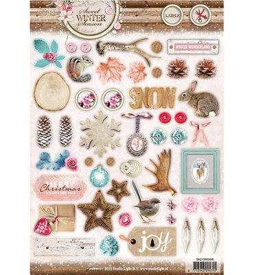 A4 Die cut sheet Studio Light | Sweet Winter Season