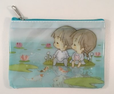 Amy and Tim Small Clear Zipper Bag