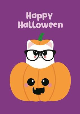 Halloween Postcard   Happy Halloween Pumpkin