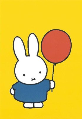 Nijntje Miffy Postcards | Nijntje met ballon