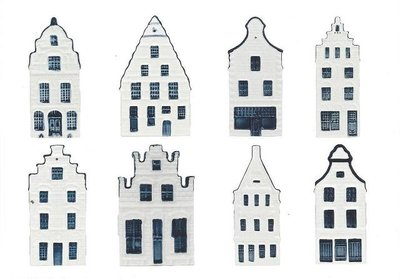 Museum Cards Postcard | Delft Blue Houses from Amsterdam