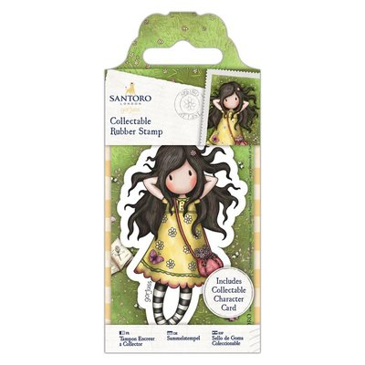 Gorjuss Collectable Mini Rubber Stamp - Santoro - No. 43 Spring At Last