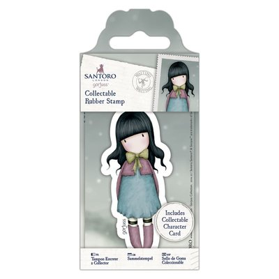 Gorjuss Collectable Mini Rubber Stamp - Santoro - No. 52 Waiting