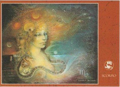 Zodiac Postcard Susan Seddon Boulet | Scorpio
