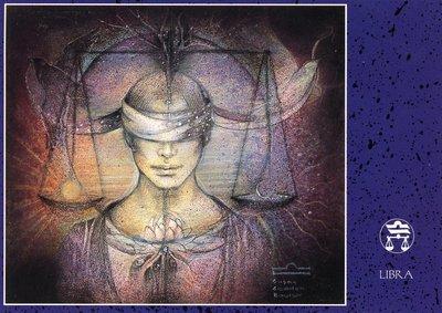 Zodiac Postcard Susan Seddon Boulet | Libra