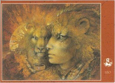 Zodiac Postcard Susan Seddon Boulet | Leo