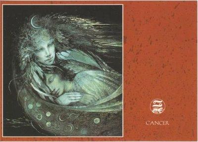 Zodiac Postcard Susan Seddon Boulet | Cancer