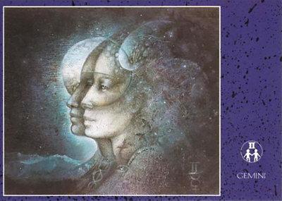 Zodiac Postcard Susan Seddon Boulet | Gemini