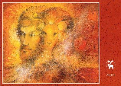 Zodiac Postcard Susan Seddon Boulet | Aries