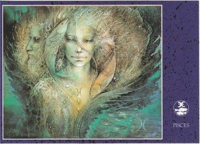 Zodiac Postcard Susan Seddon Boulet | Pisces