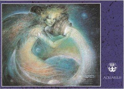Zodiac Postcard Susan Seddon Boulet | Aquarius