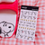 Snoopy Peanuts Character Seal Stickers | White