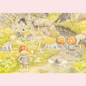 Elsa Beskow Postcard | Illustration from Children of the Forest
