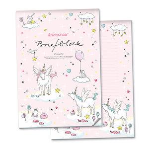 A4 Letter Paper Pad - Unicorn