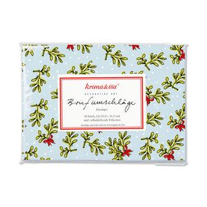 Envelope Set C6 - Mistletoe