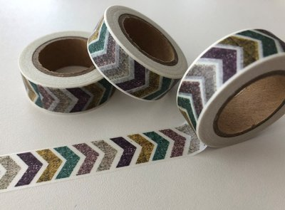 Washi Masking Tape | Purple/Petrol Chevron