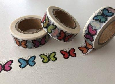 Washi Masking Tape   BIG Rainbow Butterflies