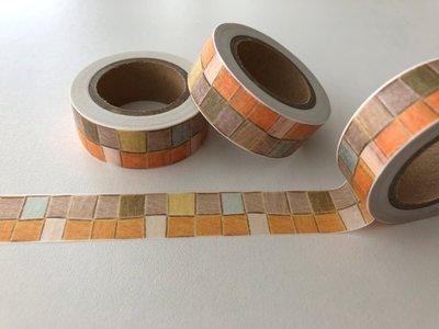 Washi Masking Tape | Orange Squares