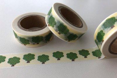 Washi Masking Tape   Green Trees