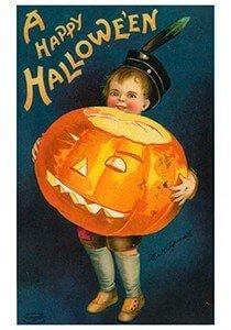 Victorian Halloween Postcard | A Happy Halloween