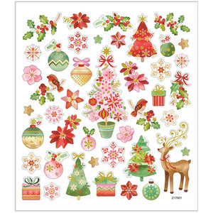 Seal Sticker with Gold Foil   Romantic Christmas