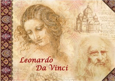 Illustrated notebook Gwenaëlle Trolez Créations - Leonardo Da Vinci