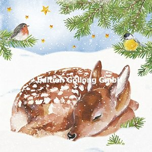 Carola Pabst Postcard Christmas | Deer in the snow