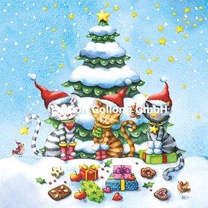 Nina Chen Postcard Christmas   Christmas Cats