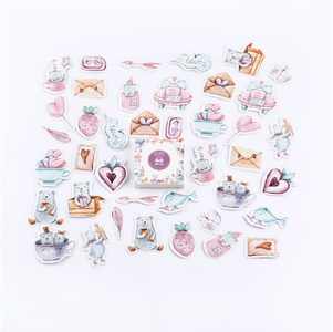 Sticker Flakes Box | Pastel Love Note