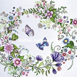 Sabina Comizzi Postcard | Flower wreath with butterfly