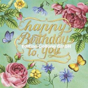 Nina Chen Postcard | Happy Birthday (blossoms)