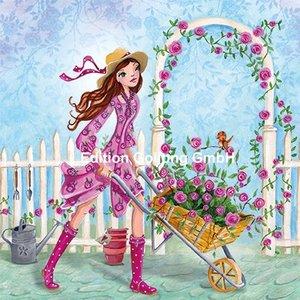 Cartita Design Postcard | Woman with roses