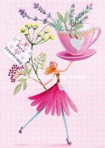 Mila Marquis Postcard | Gute Besserung (Woman with herbs)